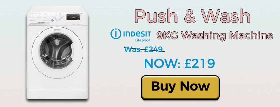 Indesit BWE91484XWUK Washing Machine. Now: £219