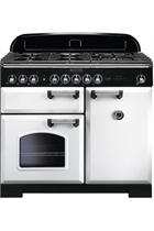 Rangemaster Classic Deluxe CDL100DFFWH/C 100cm White Dual Fuel Range Cooker