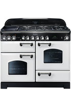 Rangemaster Classic Deluxe CDL110DFFWH/C 110cm White Dual Fuel Range Cooker