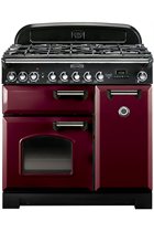 Rangemaster Classic Deluxe CDL90DFFCY/C 90cm Cranberry Dual Fuel Range Cooker