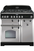 Rangemaster Classic Deluxe CDL90DFFRP/C 90cm Royal Pearl Dual Fuel Range Cooker