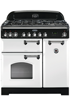 Rangemaster Classic Deluxe CDL90DFFWH/C 90cm White Dual Fuel Range Cooker