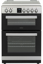 Belling FSDF608DSIL 60cm Silver Double Oven Duel Fuel Cooker