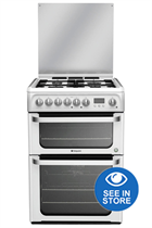 Hotpoint HUD61PS 60CM White Dual Fuel Cooker
