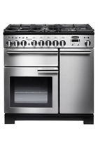 Rangemaster Professional Deluxe PDL90DFFSS/C 90cm Stainless Steel Dual Fuel Range Cooker