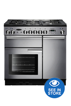 Rangemaster Professional Plus PROP90DFFSS/C 90cm Stainless Steel Dual Fuel Range Cooker
