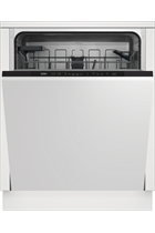 Beko DIN15C20 Integrated Stainless Steel 14 Place Settings Dishwasher