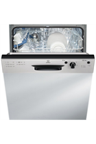 Indesit Eco Time DPG15B1NX Semi Integrated Silver 13 Place Settings Dishwasher