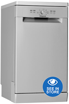 Hotpoint HSFE1B19SUK Silver Slimline 10 Place Settings Dishwasher