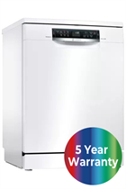Bosch Serie 6 SMS67MW00G White 14 Place Settings Dishwasher