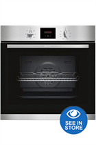 NEFF N30 B1GCC0AN0B Stainless Steel Built-In Electric Single Oven