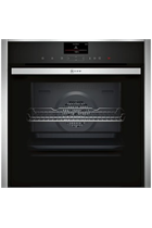 NEFF N90 B47FS34H0B Stainless Steel Slide&Hide FullSteam Built-In Electric Single Oven with HomeConnect
