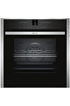 NEFF N70 B47VR32N0B Stainless Steel Slide&Hide VarioSteam Built-In Electric Single Oven