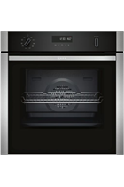 NEFF N50 B4ACM5HN0B Stainless Steel Slide&Hide Built-In Electric Single Oven with MeatProbe