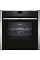 NEFF N70 B57CR23N0B Stainless Steel Pyrolytic Slide&Hide Built-In Electric Single Oven