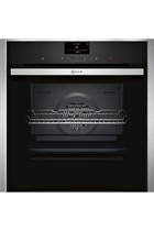 NEFF N90 B57CS24H0B Stainless Steel Pyrolytic Slide&Hide Built-In Electric Single Oven with HomeConnect