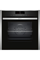 NEFF N90 B58VT68H0B Stainless Steel Pyrolytic Slide&Hide VarioSteam Built-In Electric Single Oven with HomeConnect