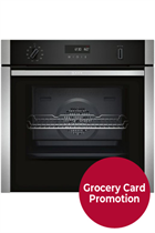 NEFF N50 B5ACH7AN0B Stainless Steel Pyrolytic Slide&Hide Built-In Electric Single Oven