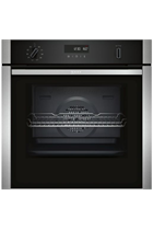 NEFF N50 B5ACM7HN0B Stainless Steel Pyrolytic Slide&Hide Built-In Electric Single Oven with MeatProbe