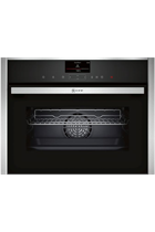 NEFF N90 C17FS32H0B Stainless Steel FullSteam Built-In Compact Oven with HomeConnect