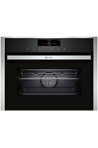 NEFF N90 C18FT56H0B Stainless Steel FullSteam Built-In Compact Oven with HomeConnect