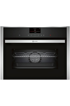NEFF N90 C27CS22H0B Stainless Steel Pyrolytic Built-In Compact Oven with HomeConnect