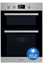 Indesit Aria IDD6340IX Stainless Steel Built-In Electric Double Oven
