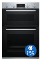Bosch Serie 4 MBS533BS0B Stainless Steel Built-In Electric Double Oven