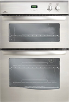 New World NW90DOSAT Satin Steel Double Oven