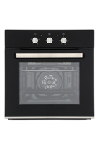 Culina UBEFMM604BK Stainless Steel Shallow Depth Built-In Electric Single Oven