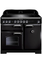 Rangemaster Classic Deluxe CDL100EIBL/C 100cm Black Electric Range Cooker with Induction Hob