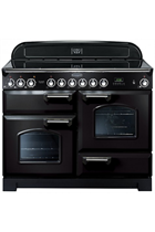 Rangemaster Classic Deluxe CDL110ECBL/C 110cm Black Electric Range Cooker with Ceramic Hob