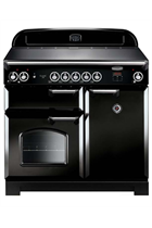 Rangemaster Classic CLA100ECBL/C 100cm Black Electric Range Cooker with Ceramic Hob