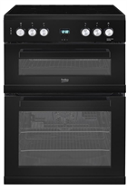 Beko EDC633K 60cm Black Double Oven Electric Cooker