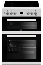 Beko EDC633W 60cm White Double Oven Electric Cooker