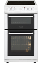 Belling FS50EDOFCWHI 50cm White Twin Cavity Electric Cooker