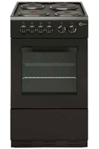Flavel FSBE50BK 50cm Black Single Cavity Cooker