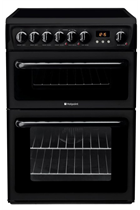 Hotpoint HAE60KS 60cm Black Double Oven Electric Cooker