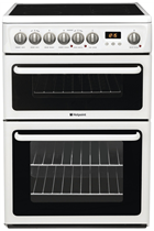 Hotpoint HAE60PS 60CM White Double Cavity Cooker