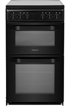 Hotpoint Cloe HD5V92KCB 50cm Black Twin Cavity Electric Cooker
