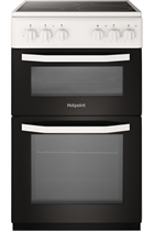 Hotpoint Cloe HD5V92KCW 50cm White Twin Cavity Electric Cooker