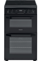 Hotpoint Cloe HD5V93CCB 50cm Black Double Oven Electric Cooker
