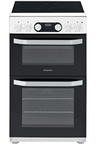 Hotpoint Cloe HD5V93CCW 50cm White Double Oven Electric Cooker