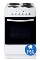 Haden HES60W 60cm White Single Cavity Electric Cooker