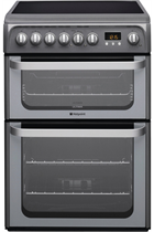 Hotpoint Ultima HUE61GS 60cm Graphite Double Oven Electric Cooker