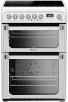 Hotpoint Ultima HUE61PS 60cm White Double Oven Electric Cooker