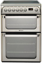 Hotpoint Ultima HUE61XS 60cm Stainless Steel Double Oven Electric Cooker