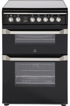 Indesit Advance ID60C2KS 60cm Black Double Oven Electric Cooker