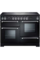 Rangemaster Kitchener KCH110ECBL/C 110cm Black Electric Range Cooker with Ceramic Hob