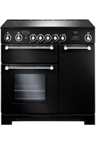 Rangemaster Kitchener KCH90ECBL/C 90cm Black Electric Range Cooker with Ceramic Hob